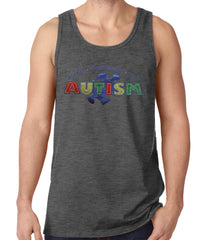 Autism Awareness - Accept, Understand, Love Tank Top Charcoal Grey