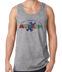 Autism Awareness - Accept, Understand, Love Tank Top Heather Grey