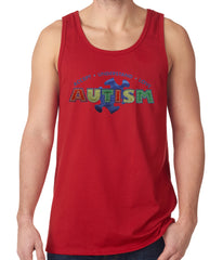 Autism Awareness - Accept, Understand, Love Tank Top Red