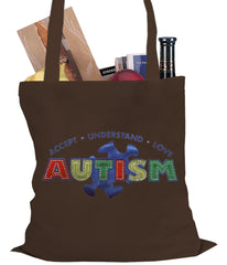 Autism Awareness - Accept, Understand, Love Tote Bag