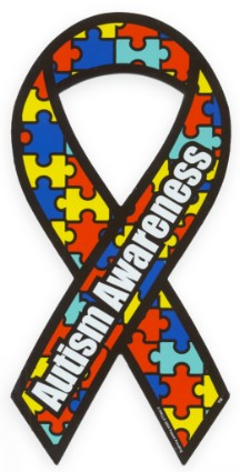 Autism Awareness Car Ribbon Magnet
