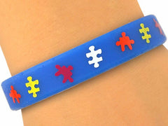 "Autism Awareness ""Connecting The Pieces"" Gel Support Bracelet"