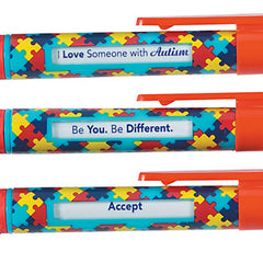 Autism Awareness Message Pens with 6 Inspirational Messages