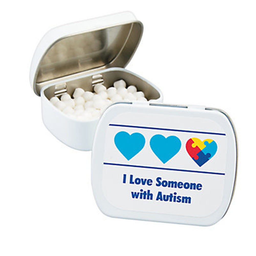 Autism Awareness Metal Tin of Breath Mints
