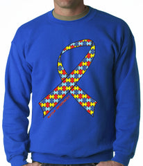 Autism Awareness Ribbon Crewneck