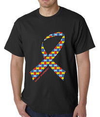 Autism Awareness Ribbon Mens T-shirt