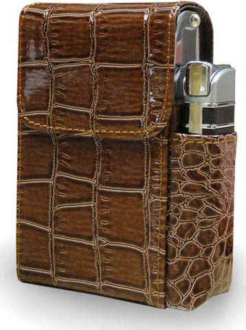 Automatic Rising Cigarette Case with Lighter Holder