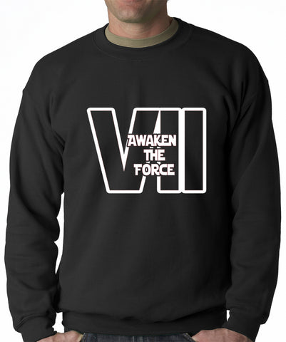 Awaken The Force VII Adult Crewneck Sweatshirt