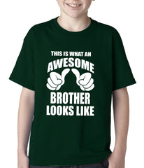 Awesome Brother Kids T-shirt Forest Green
