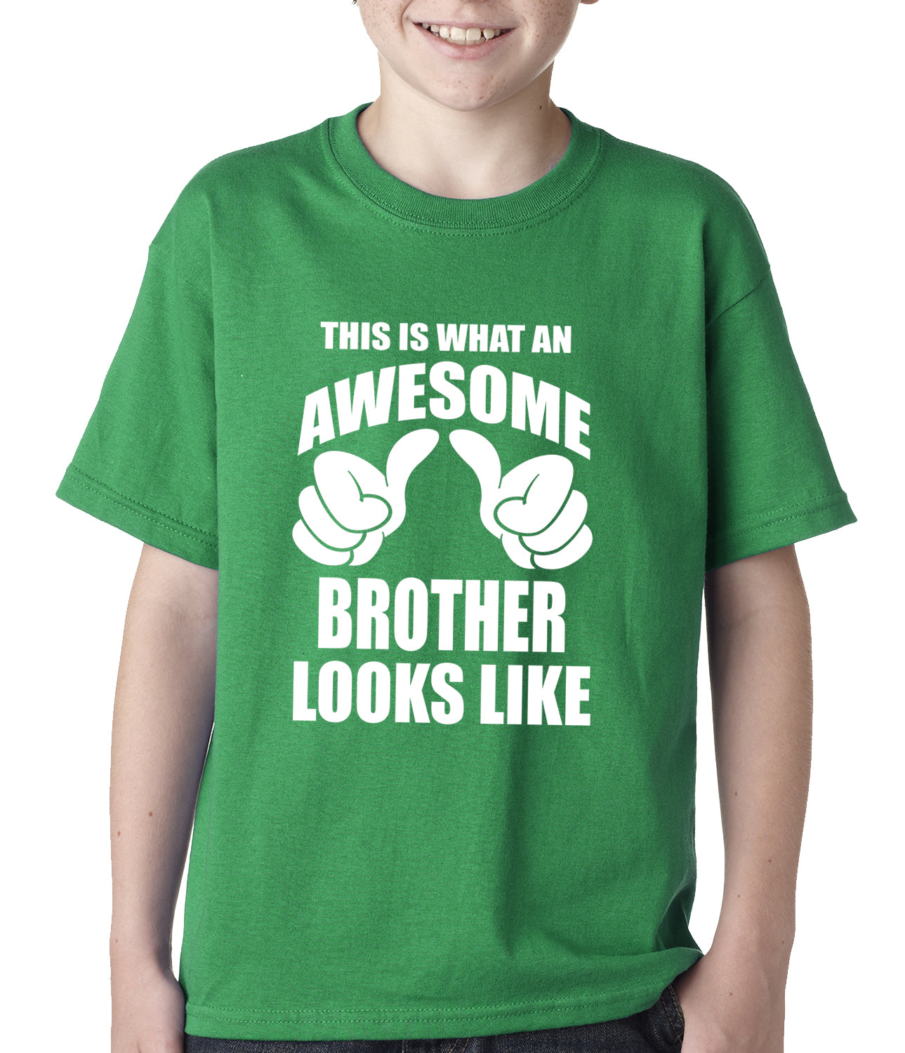 Awesome Brother Kids T-shirt Kelly Green