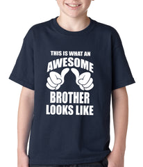 Awesome Brother Kids T-shirt Navy Blue