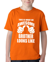 Awesome Brother Kids T-shirt Yellow