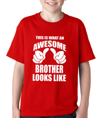 Awesome Brother Kids T-shirt Red