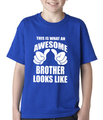 Awesome Brother Kids T-shirt Royal Blue