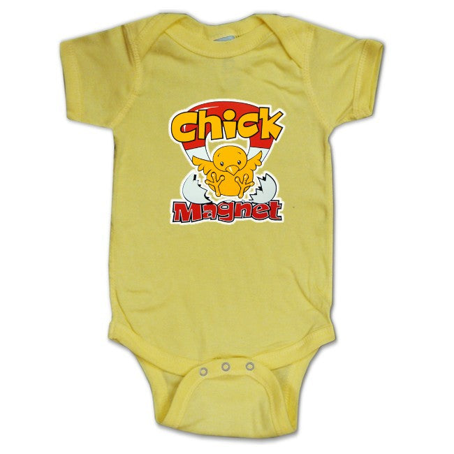 Baby Onesies - Chick Magnet Onesie Light Yellow