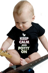 "Baby Onesies -  ""Keep Calm And Potty On""  Onesies"