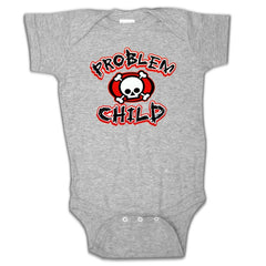 Heather Grey Baby Onesies - Problem Child Onesie