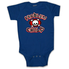 Baby Onesies - Problem Child Onesie Navy Blue