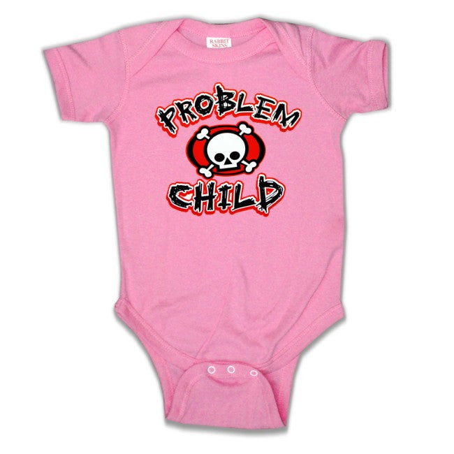 Baby Onesies - Problem Child Onesie Hot Pink