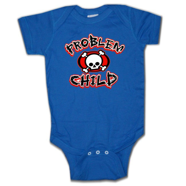Baby Onesies - Problem Child Onesie Royal blue