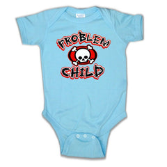 Baby Onesies - Problem Child Onesie Baby Blue