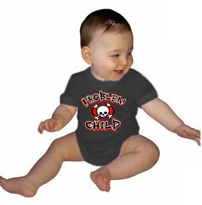 Baby Onesies - Problem Child Onesie Black