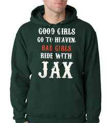Bad Girls Ride with Jax SOA Adult Hoodie