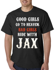 Bad Girls Ride with Jax SOA Mens T-shirt