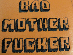 BAD MOTHER F*CKER Light Brown Leather Wallet