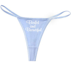 Bald And Beautiful Thong Light Blue