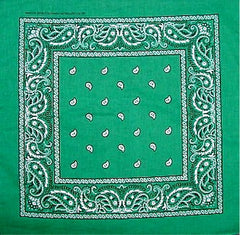 Bandanas - Irish Kelly Green Pasiley Bandana
