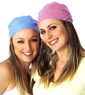 Bandanas - Light Pink Paisley Bandanna women