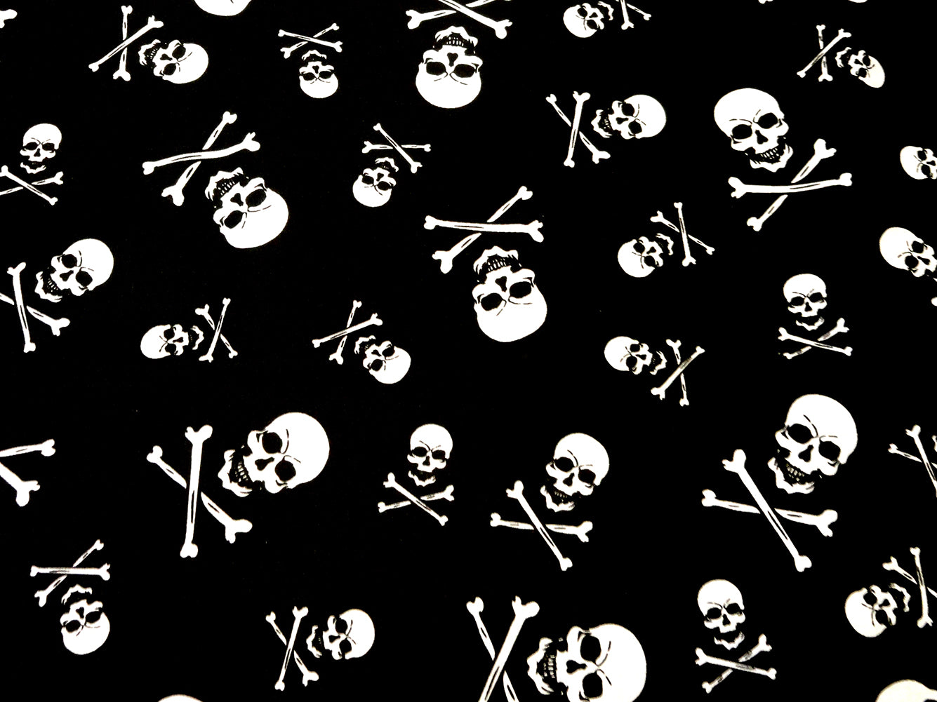 Skull and Crossbones Bandana black
