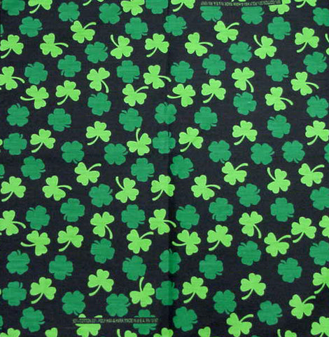 Bandanas - St Patricks Day Good Luck Clover Bandana