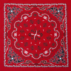 Bandanas - Tribal Paisley (Red with Black)