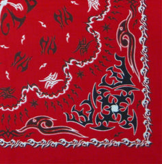 Tribal Paisley Bandanna (Red with Black)
