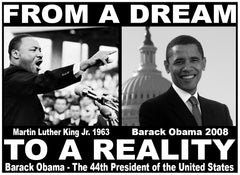 "Barack Obama & Martin Luther King ""From Dream To Reality"" Men's T-Shirt"