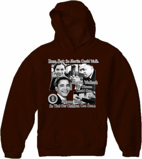 "Barack Obama ""Paving The Road"" Adult Hoodie"