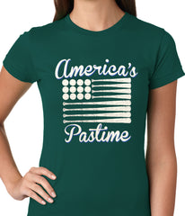 Baseball America's Pastime Girls T-shirt