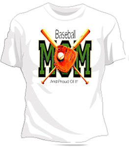 Baseball Mom And Proud Of It Girls T-Shirt