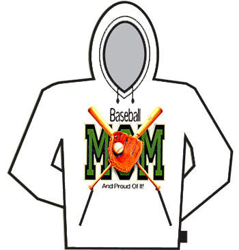 Baseball Mom And Proud Of It Hoodie