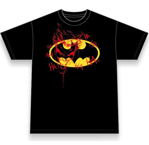 Batman Dark Knight Graffiti Youth T-Shirt (Black) Small