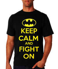 Keep Calm and Fight On Men's T-Shirt (Black)