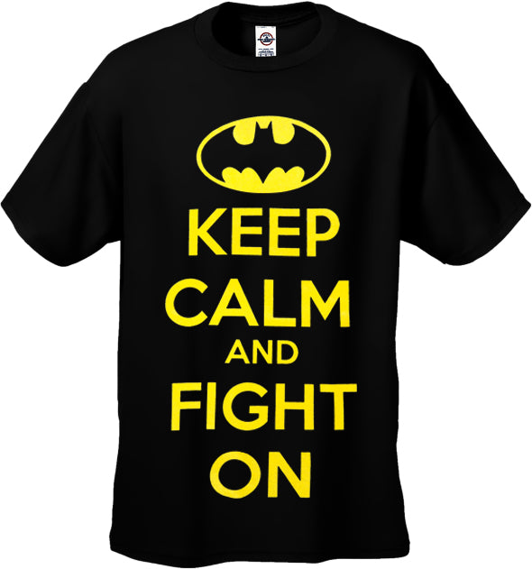 Batman Keep Calm and Fight On Men's T-Shirt