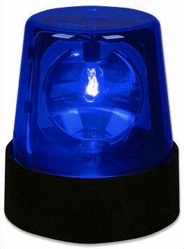 Battery Operated LED Police Light  (Blue)