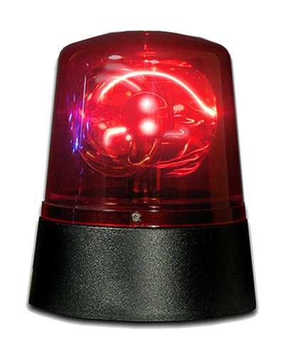 Battery Operated LED Police Light (Red)