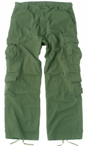 BDU Paratrooper Army Cargo Fatigues (Olive)