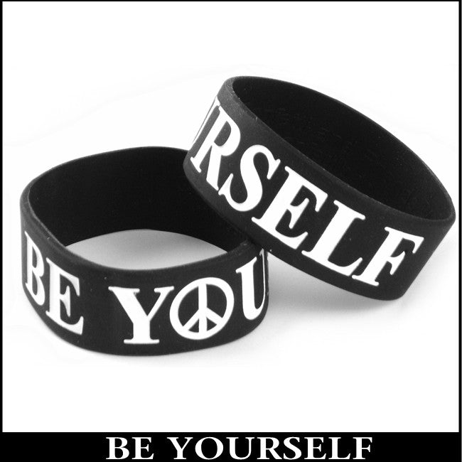 Be Yourself Designer Rubber Saying Bracelet