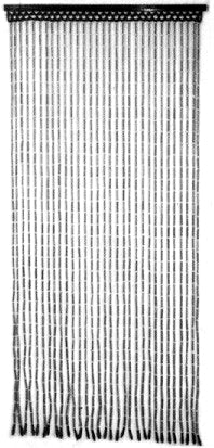 Beaded Curtains - Black Bamboo Doorway Curtain