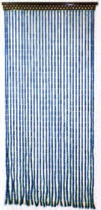Beaded Curtains - Blue Bamboo Door Beads (Blue)